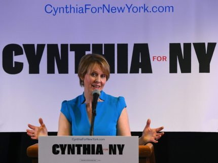 Former Sex and the City star Cynthia Nixon (Photo by TIMOTHY A. CLARY/AFP/Getty Images)