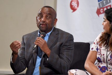 PASADENA, CA - JULY 30: Jesse Lee Peterson at the 'Mr. Trump, Tear Down This Wall' panel during Politicon at Pasadena Convention Center on July 30, 2017 in Pasadena, California. (Photo by Joshua Blanchard/Getty Images for Politicon)