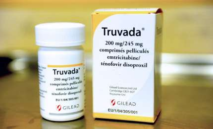 A picture taken on May 11, 2012 shows a box of antiretroviral drug Truvada displayed on a table in the Hospital of the northern French city of Bethune. The U.S. Food and Drug Administration (FDA) Antiviral Drugs Advisory Committee approved Gilead Sciences' Truvada as a preventative treatment for people who are at high risk of contracting HIV through sexual intercourse on May 10, 2012. Already approved to treat people infected with HIV, Truvada would be a milestone in the worldwide AIDS epidemic by offering a tablet capable of preventing infection in high-risk individuals. AFP PHOTO / DENIS CHARLET / AFP / DENIS CHARLET (Photo credit should read DENIS CHARLET/AFP/Getty Images)