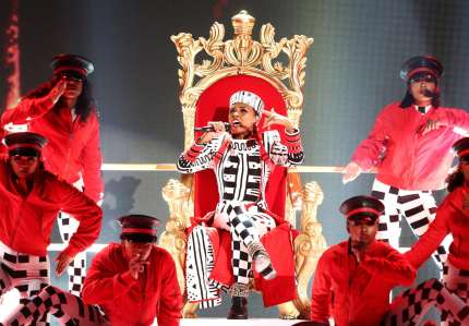 LOS ANGELES, CA - JUNE 24:  Janelle Monae performs onstage at the 2018 BET Awards at Microsoft Theater on June 24, 2018 in Los Angeles, California.  (Photo by Frederick M. Brown/Getty Images for BET)