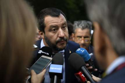 A picture of Italian Interior Minister Matteo Salvini. whose ministry has appealed against the ruling allowing gay parents to both be recognised as legal guardian of their children.