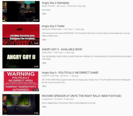 Dozens of YouTube videos promoting the game are still online.