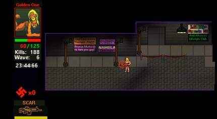 The video game attempts to conflate homosexuality and paedophilia.