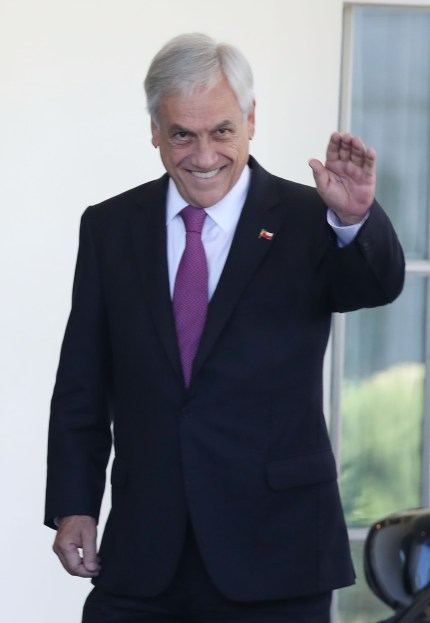 Chile's president Sebastian Pinera, who signed the trans rights law into effect