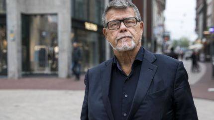 Emile Ratelband, who wants to change his age to 49. stands in Arnhem