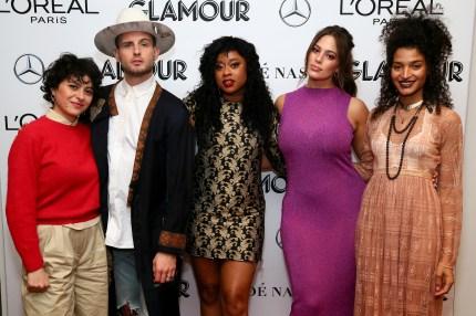 Non-binary star Nico Tortorella with Alia Shawkat, Phoebe Robinson, Ashley Graham and Indya Moore