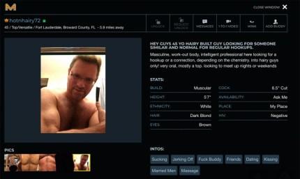 Norman Goldwasser sought gay sex on Manhunt