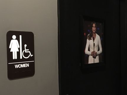 The gender bathroom sign at Dacosta's Pizza Bakery