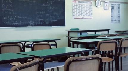 A photo of a classroom at Catholic school La Traccia di Calcinate, in Italy