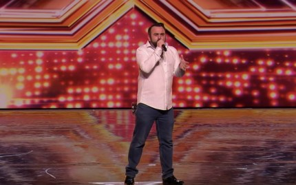 Gay X Factor star Danny Tetley is a finalist in Ayda Field's Overs group.