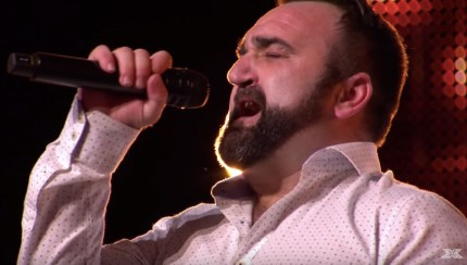 """Gay X Factor star Danny Tetley sang """"And I Am Telling You I'm Not Going"""" on his audition."""
