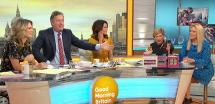Presenters and guests including Emma B on Good Morning Britain on November 28, 2018