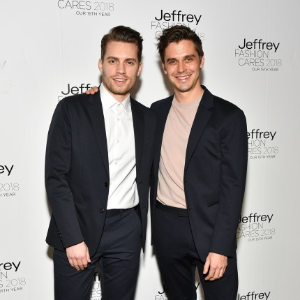 oey Krietemeyer (L) and Antoni Porowski attend the 15th annual Jeffrey Fashion Cares Fashion Show and Fundraiser at Intrepid Sea-Air-Space Museum on April 11, 2018 in New York City. (Photo by Dia Dipasupil/Getty Im