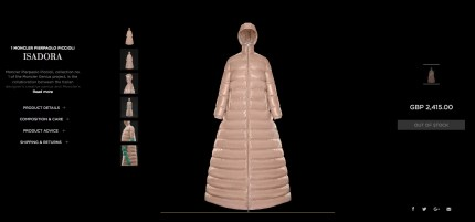 Ezra Miller's Moncler puffer jacket, which has sold out