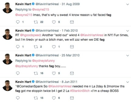 """Kevin Hart calls gay people """"fags"""" on Twitter"""