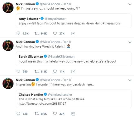 Billy Eichner responded to resurfaced tweets showing Amy Schumer, Chelsea Handler and Sarah Silverman using the slurs 'fag' and 'faggot'