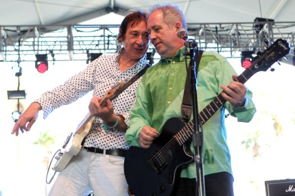 Musicians Steve Diggle and Pete Shelley of Buzzcocks