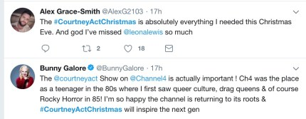 Twitter reactions to Courtney Act show