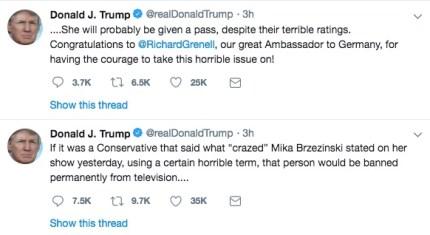 Trump criticises Morning Joe host for homophobic remark