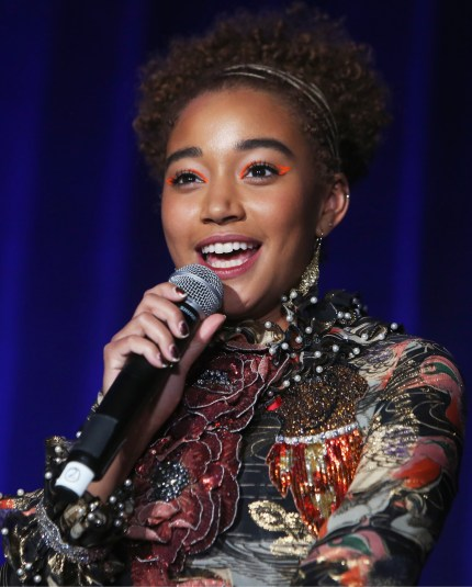 Amandla Stenberg speaks onstage at Equality Now's Make Equality Reality Gala 2018 at The Beverly Hilton Hotel on December 3, 2018 in Beverly Hills, California.