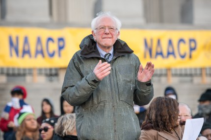 Senator Bernie Sanders claps with a song during the annual Martin Luther King Jr. Day at the Dome event on January 21, 2019 in Columbia, South Carolina.