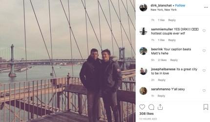 Dirk Blanchat, boyfriend of former MLS player Matthew Pacifici