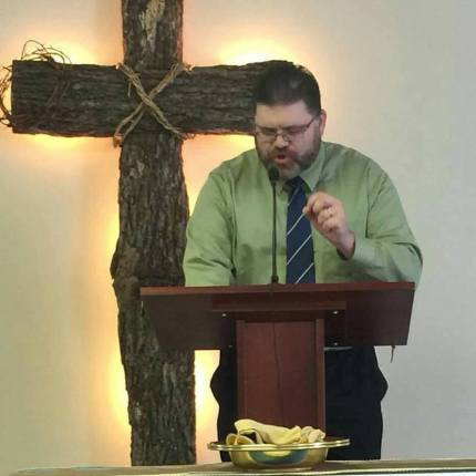 Former pastor Justin Hoke, who put up a transphobic sign about Caitlyn Jenner