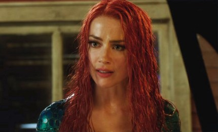 Amber Heard, one of few openly bisexual actresses, as Mera in Aquaman