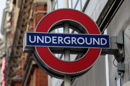 A London Underground sign sits on the side of Sloane Square tube station on November 29, 2017 in London, the same city where the gay couple was attacked