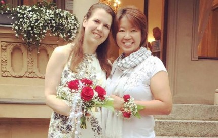 Japanese authorities have not yet given recognition to lesbian couple Ai Nakajima and Kristina Baumann, one of the 13 gay couples who filed a Valentine's Day lawsuit and who got married in Germany in 2018