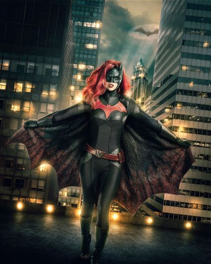 Ruby Rose as Batwoman in a promotional shot for The CW