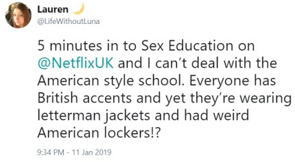 """Some said they """"can't deal"""" with the American-style school. (Twitter/@lifewithoutluna)"""
