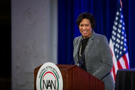 Muriel Bowser, mayor of Washington, DC, speaks during the National Action Network Breakfast on January 21, 2019 in Washington, DC