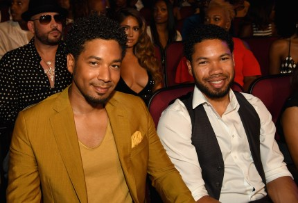 Jussie Smollett (L) and brother Jocqui Smollett attend 2017 BET Awards at Microsoft Theater on June 25, 2017 in Los Angeles, California.