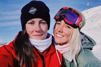 The Grand Tour's lesbian test driver Abbie Eaton (left) and her girlfriend