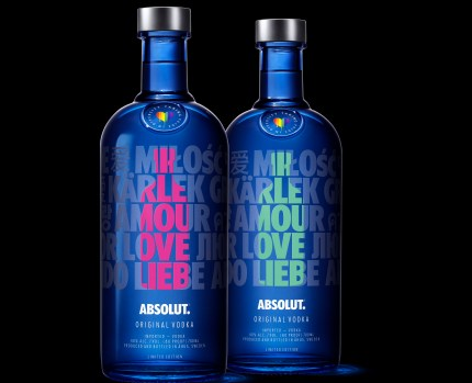 A picture of the Absolut Drop from Absolut, which is launching a campaign on how to be a better LGBT ally.