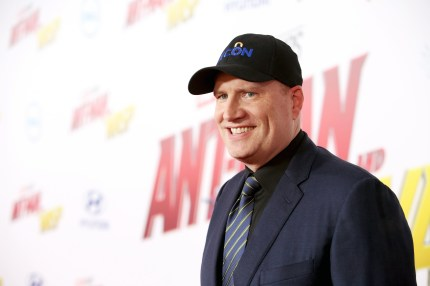 Marvel President Kevin Feige at the premiere for Ant-Man and the Wasp