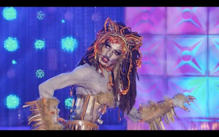 Yvie Oddly shows off her taurus look on Drag Race.