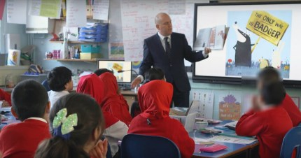 Andrew Moffat of Parkfield school teaching LGBT-inclusive lessons.