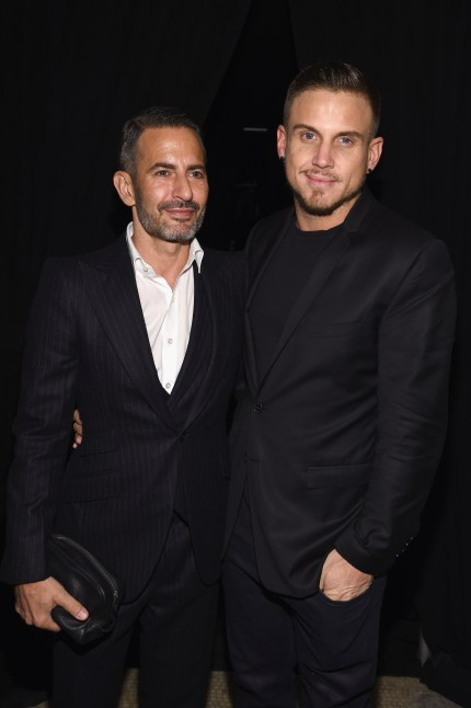 Marc Jacobs and Charly DeFrancesco attend Marc Jacobs Beauty Velvet Noir Mascara Launch Dinner on January 18, 2016 in New York City.