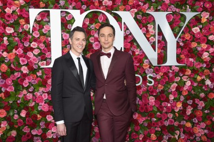 NEW YORK, NY - JUNE 10: Todd Spiewak and Jim Parsons attend the 72nd Annual Tony Awards at Radio City Music Hall on June 10, 2018 in New York City. (Photo by Jamie McCarthy/Getty Images)