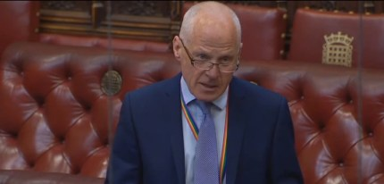 Lord Cashman responded to a homophobic letter in the House of Lords