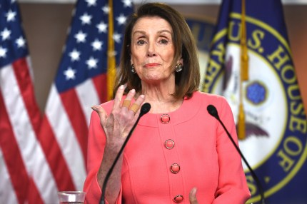 House Speaker Nancy Pelosi speaks during her weekly news conference on Capitol Hill, May 2, 2019 in Washington, DC.