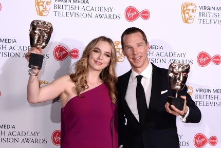 Bafta Tv awards winners Jodie Comer and Benedict Cumberbatch.