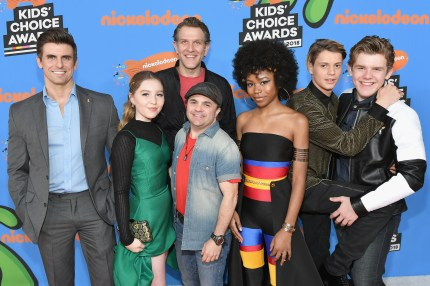 Michael D. Cohen with the cast of Henry Danger (Neilson Barnard/Getty Images)