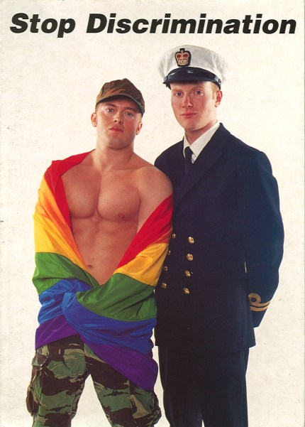 Stonewall poster showing two military men