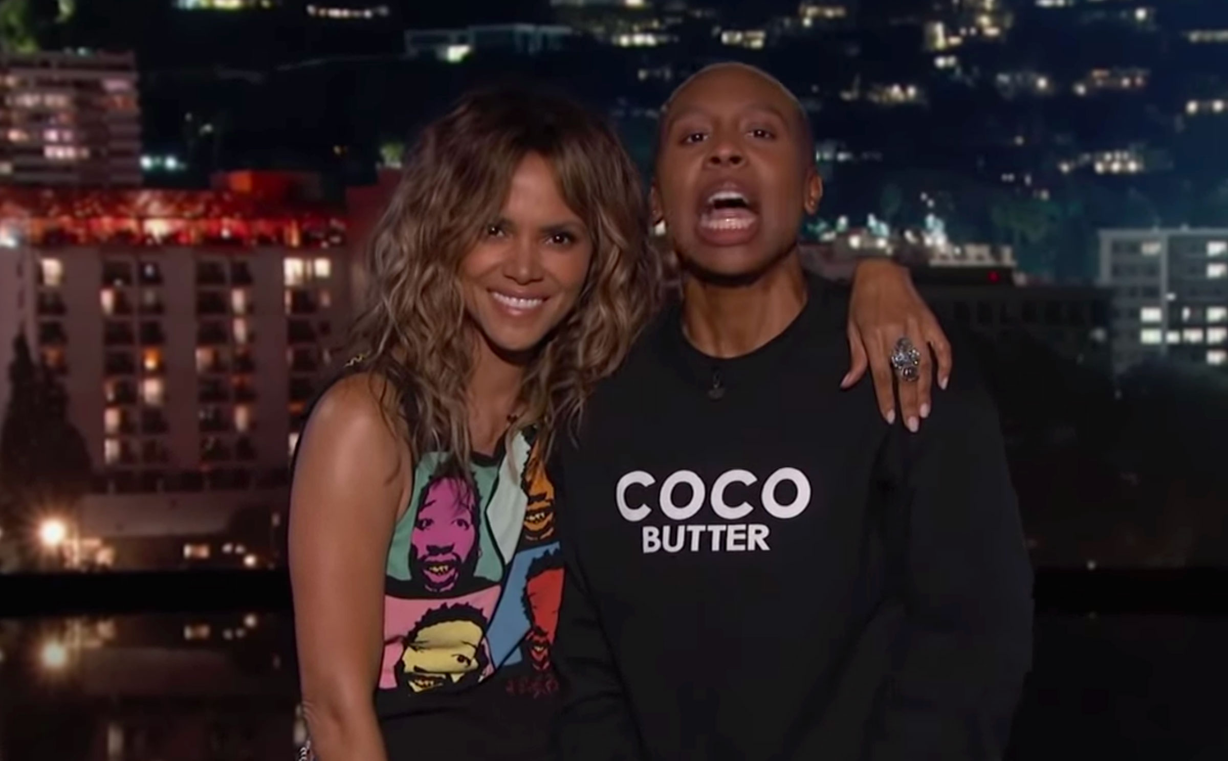Halle Berry Kisses Lena Waithe on