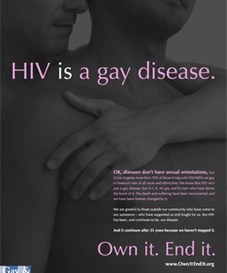 Despite the controversy, the group insist that their campaign is supported by fact.  L.A public health officials note three out of four HIV cases are the result of gay sex.