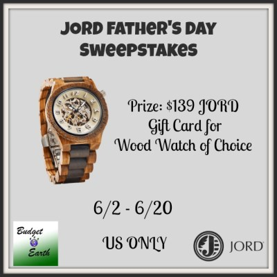JORD Father's Day Sweepstakes {US | Ends 06/20}