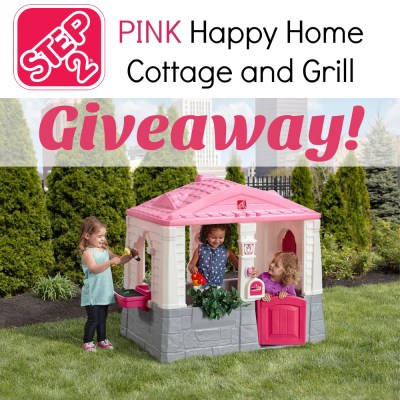 Step2 Happy Home Cottage and Grill in Pink Giveaway {US   Ends 10/19}